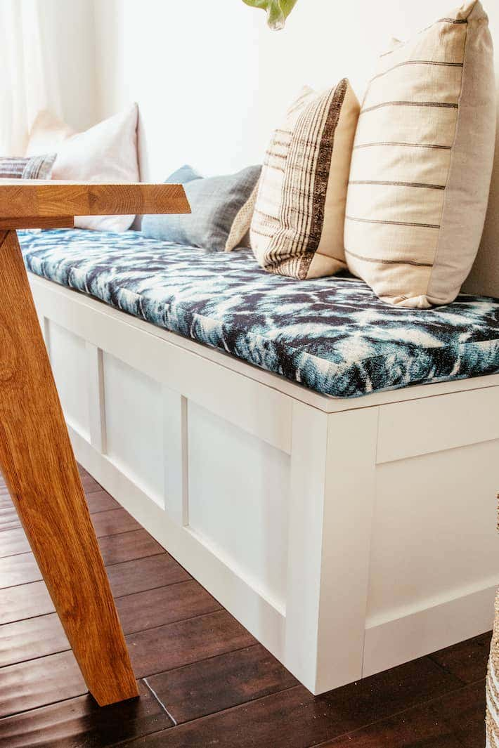 Yokota's choice of Sunbrella seating fabric adds a touch of modern style with a trendy tie-dye pattern.