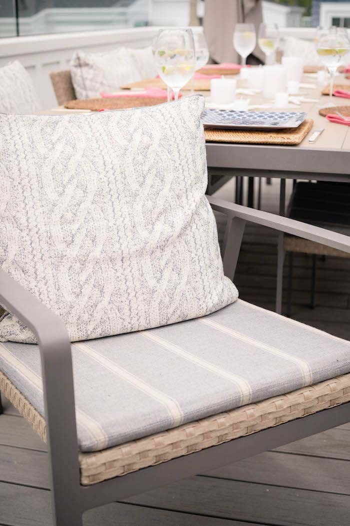 chair with neutral fabrics