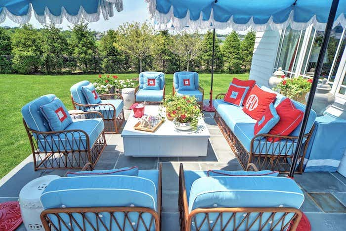 Sunbrella offerings include tassels and more to make spaces unique and exciting. Courtesy of Carmel Brantley Photography