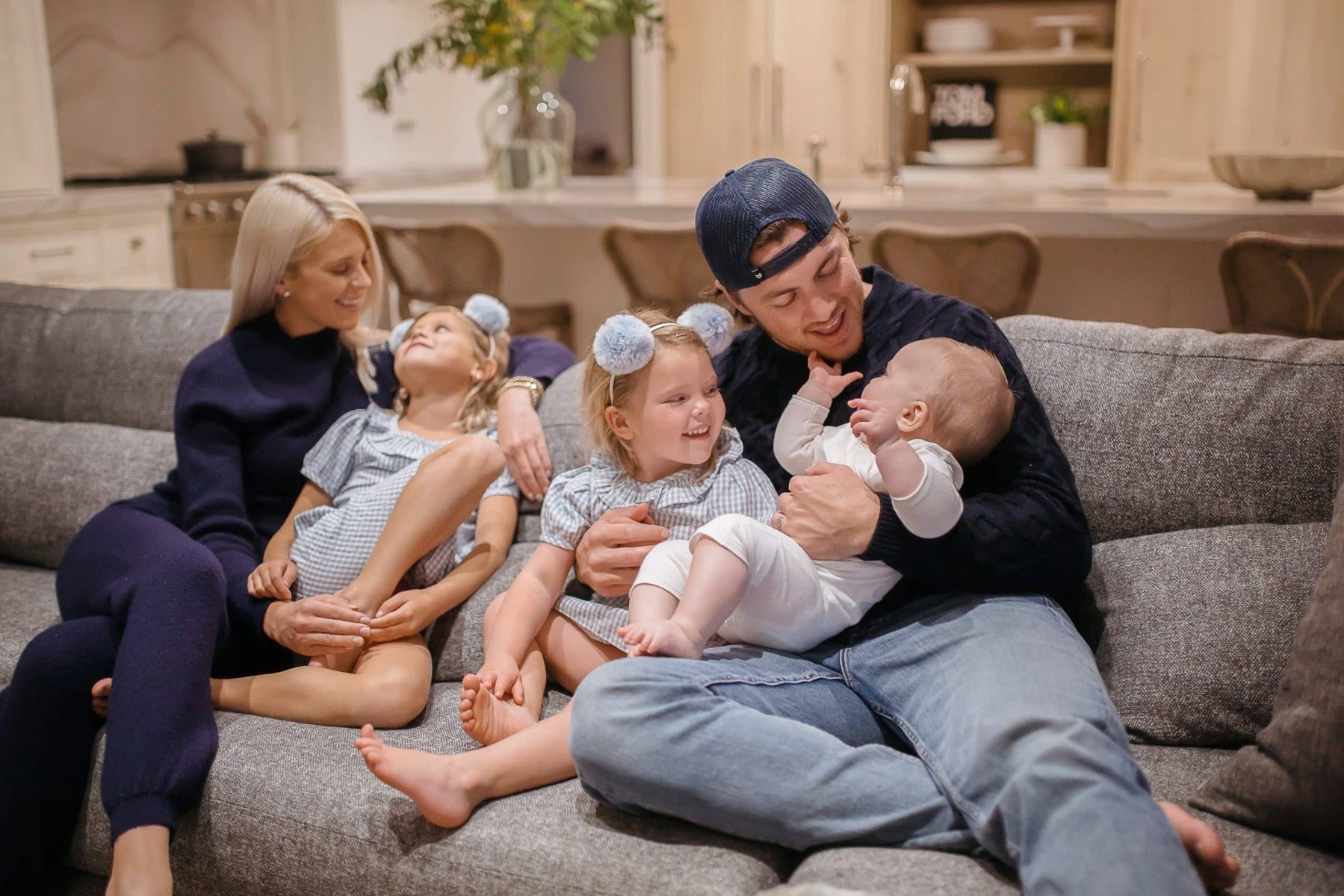 Lauren and TJ Oshie and family