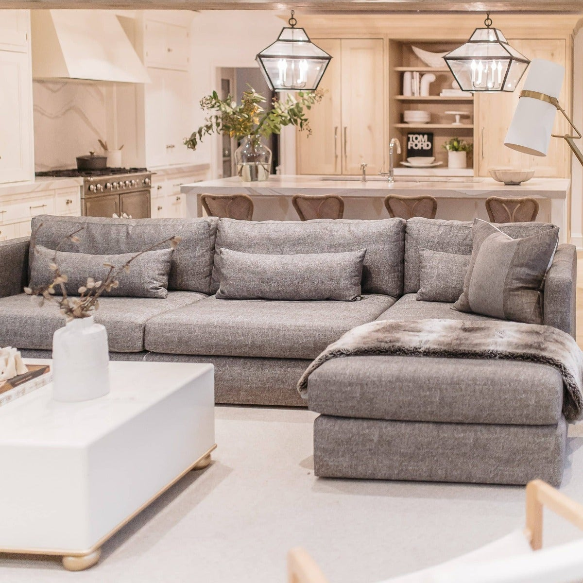 Sunbrella sectional from Mitchell Gold Bob Williams