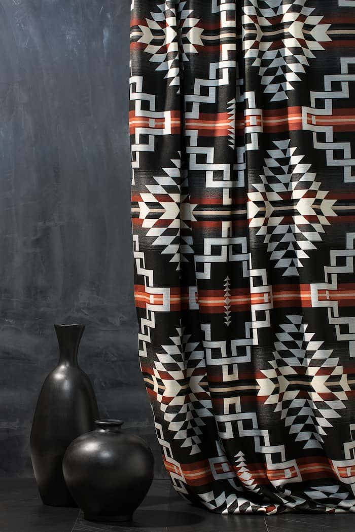 Drapery styles like this one from the Pendleton collection is a perfect match for the drapery ideas in this article.