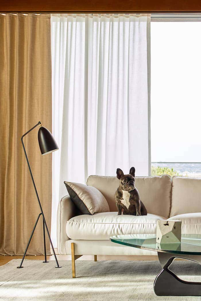 Sunbrella window treatments fit seamlessly into your family home.