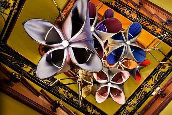 Purple, blue, and pink Sunbrella fabrics at Casa Decor