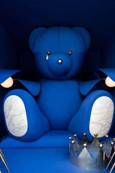 Blue Sunbrella Teddy Bear