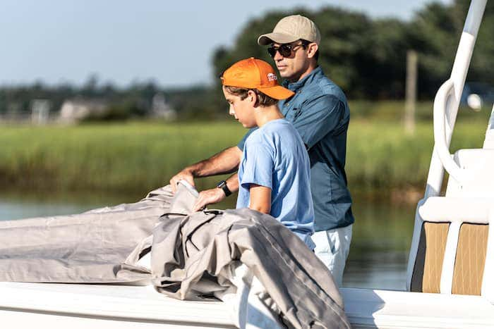 A Sunbrella boat cover offers the durability to protect your boat's hardware and upholstery while your boat is docked or stored