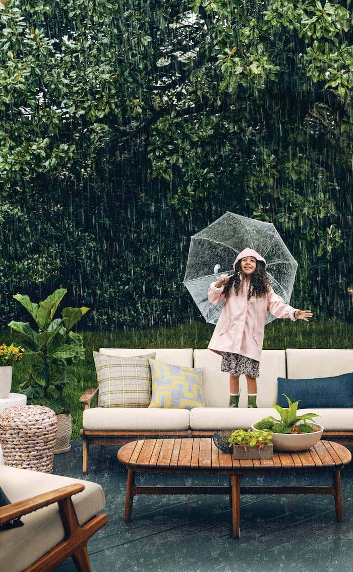 Through spring showers, Sunbrella fabrics offer premium performance for your backyard.