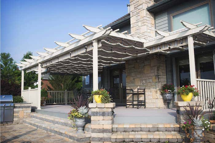 The Trex Pergola from ShadeTree offers sun protection with a decorative aesthetic.