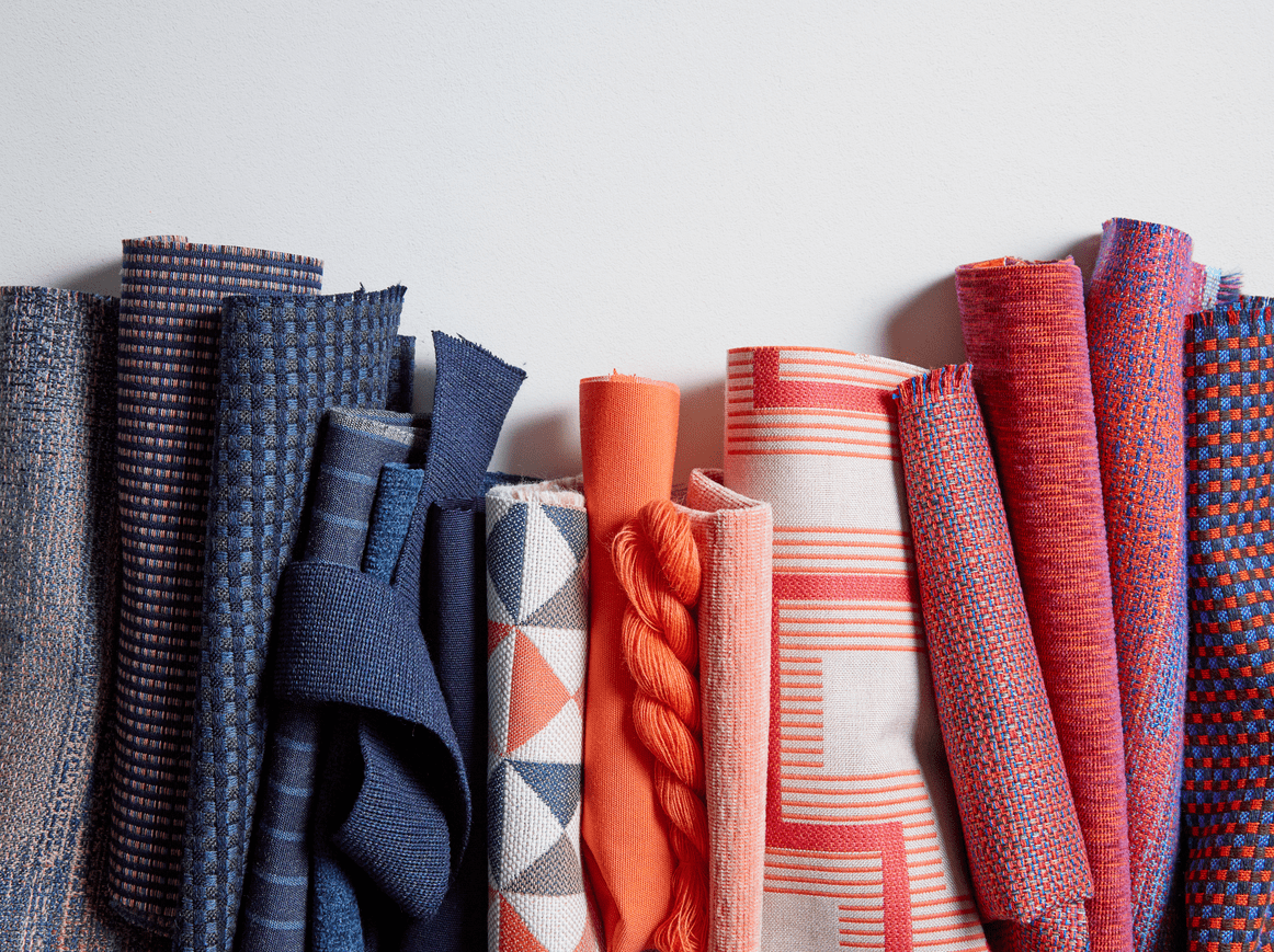 The Dimension Collection features nine new colorways and patterns that fuse bold color and texture into any space.