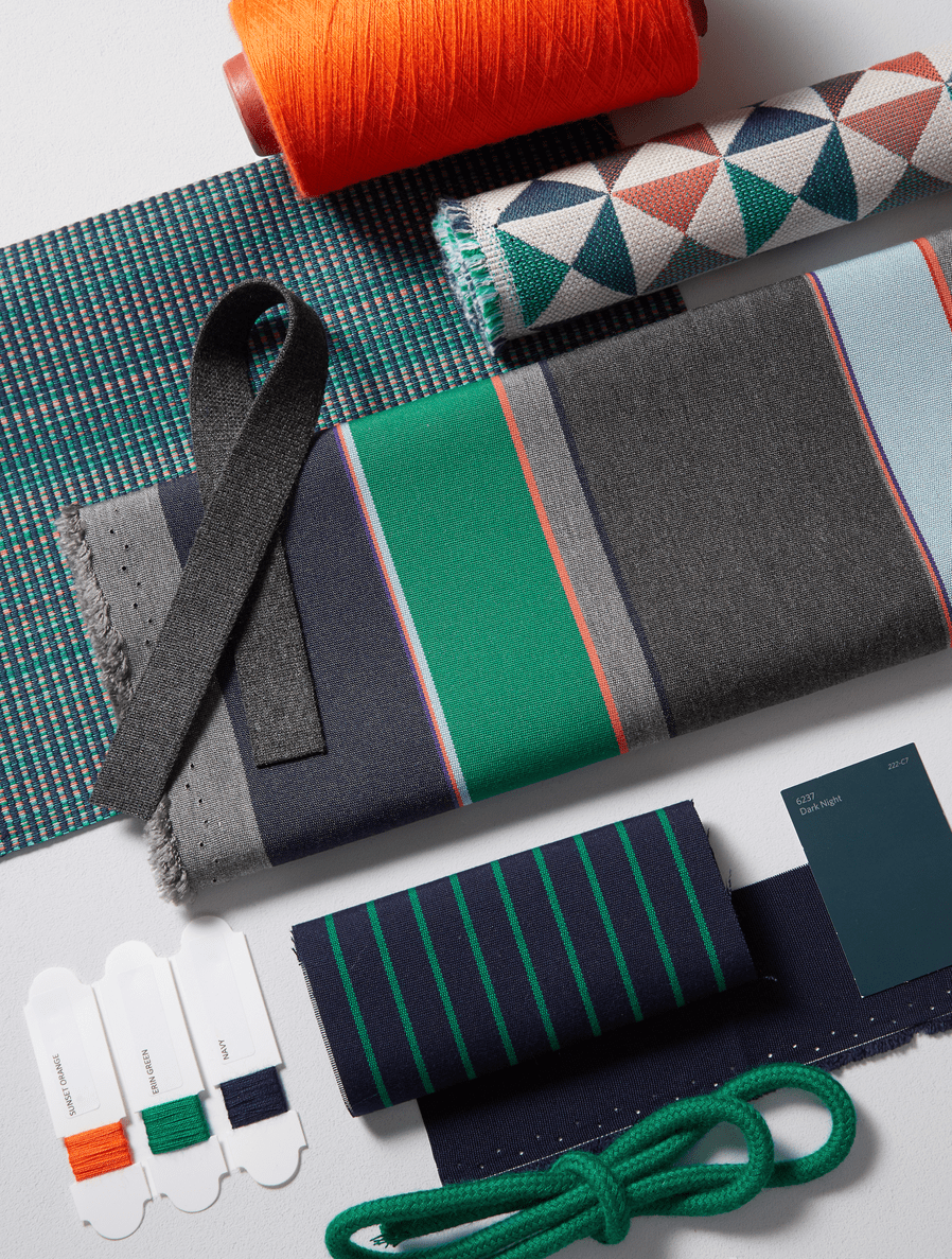 A collection of Dimension fabrics featuring Expand Prep.