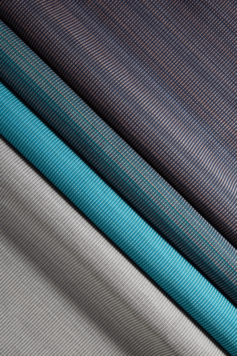 Pattern Layer, in colors Calypso, Caribbean, Dawn, and Smoke
