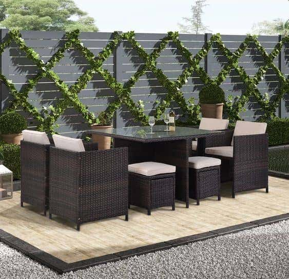 Durable patio furniture brings worry-free relaxation to your backyard.