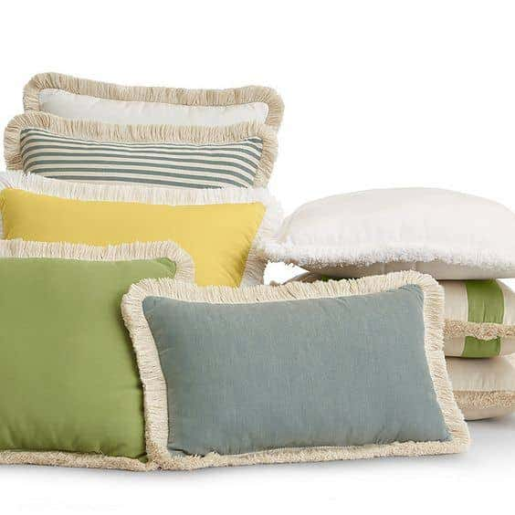 Outdoor throw pillows add functional comfort to make your outdoor space extra cozy.