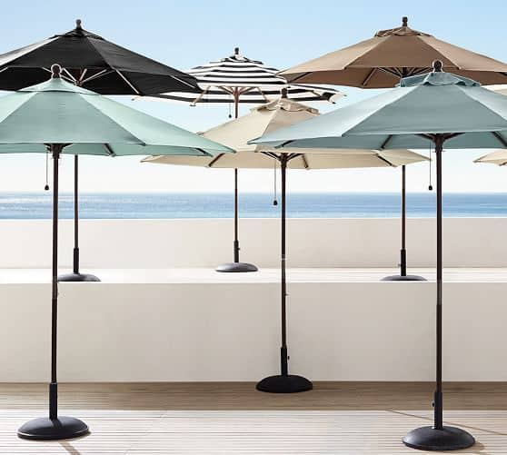 Choose from a wide variety of patio umbrellas at Pottery Barn.