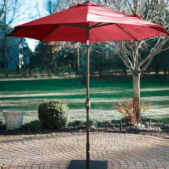 Sunbrella patio umbrellas are stylish and functional, with built-in durability and UV-resistance.