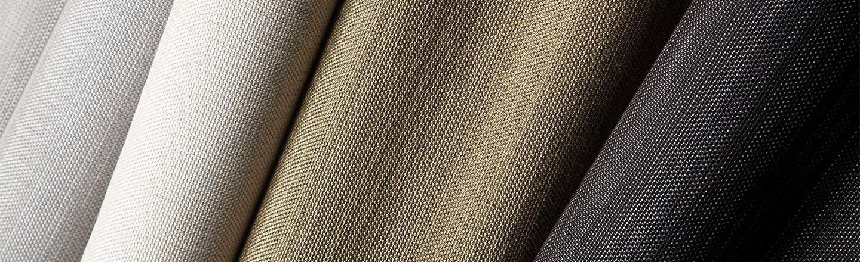 Close up of Sunbrella Alloy fabric in earth tones