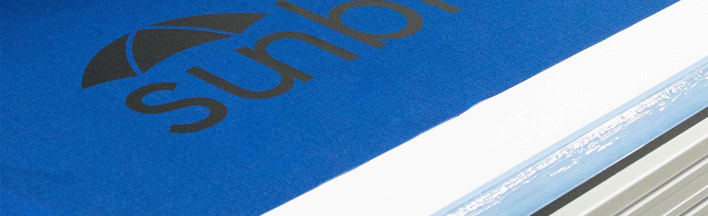 Sunbrella logo on fabric made with Sunbrella Graphics System