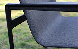 gray chair sling seat on grass lawn