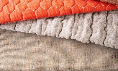 Tan upholstery fabric and rope