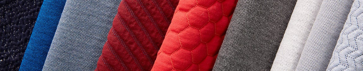 Sunbrella Knit fabric in red wash