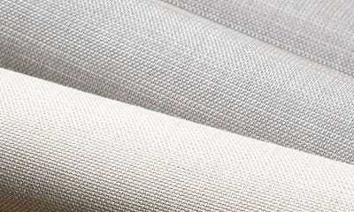 Close up of selection of offwhite Sunbrella Alloy fabric