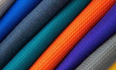 Colorful assortment of Sunbrella Contour fabric