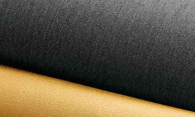 Close up of gray and gold fabric