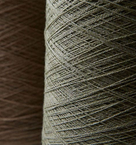 Closeup of grey yarn