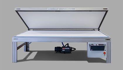 Diagram of a Sunbrella graphics system machine
