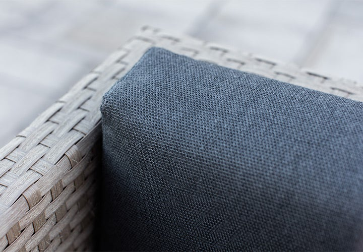Closeup of Sling fabric on chair